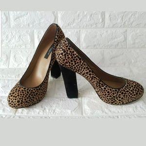 Ann Taylor Women's Heels Animal Print Size 7.5 M